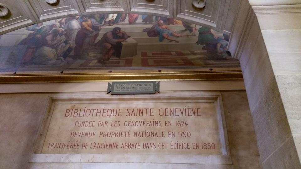 bibliothèque sainte genevieve